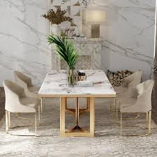 inhalt esstisch hamilton mit marmorplatte und goldenen