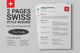 100 Resume Two Pages 2 Swiss Extended Pack On Behance