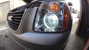 how to install replace hid headlights 06 14 gmc yukon hid install