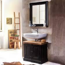 badezimmermöbelset im kolonialstil schwarz und honigfarben 2 teilig