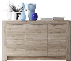 trendteam wohnzimmer sideboard kommode schrank 143 x 84 x 40 cm in eiche san remo hell dekor mit viel stauraum