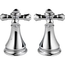 Delta Leland Bathroom Faucet Bronze by Delta Pair Of Cassidy Metal Cross Handles For Roman Tub Faucet In