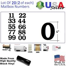 100 Custom Truck Tool Boxes 4 Black Mailbox Numbers Lot Of 20 2 Of Each Number Form 0 To 9 4 Inch Tall Black Self Adhesive Vinyl Mailbox Doors Box