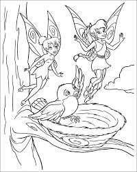 This Picture Of Tinkerbell And Friends Has Many Characters From The Magical World Disney A Small Baby Bird In Nest Makes All More Cute