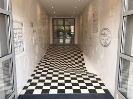 an optical illusion tile system designed by casa ceramica colossal