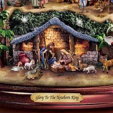 Thomas Kinkade Christmas Tree For Sale by Amazon Com Thomas Kinkade Illuminated Nativity Tabletop Tree
