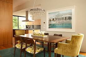 Modern Rug Brings A Splash Of Teal To The Dining Room Design Chris Barrett