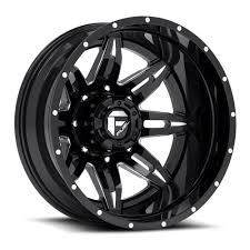 Fuel Lethal 2 Piece Wheels 22x8.25 8x6.5 Rear Dually Lifted -215mm ...