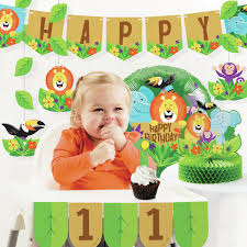 Creative Converting Jungle Safari 1st Birthday Paper/Plastic ... Buy 1st Birthday Boy Decorations Kit Beautiful Colors For Girl First Gifts Baby Hallmark Watsons Party Holy City Chic Interior Landing Page Html Template Pirate Shark High Chair Decoration Amazoncom Glitter Photo Garland Pink Toys Games Mickey Mouse Decorating Turning One Flag Banner To And Gold