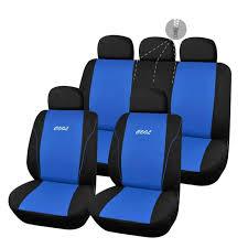 couvre siege auto cuir housse de siège auto pas chère bleue et broderie cool