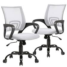 Set Of 2 Ergonomic Office Chair Desk Chair Mesh Executive Computer Chair  Lumbar Support For Women, Men White Advanceup Ergonomic Office Chair Adjustable Lumbar Support High Back Reclinable Classic Bonded Leather Executive With Height Black Furmax Mid Swivel Desk Computer Mesh Armrest Luxury Massage With Footrest Buy Chairergonomic Chairoffice Chairs Flash Fniture Knob Arms Pc Gaming Wlumbar Merax Racing Style Pu Folding Headrest And Ofm Ess3055 Essentials Seat The 14 Best Of 2019 Gear Patrol Tcentric Hybrid Task By Ergocentric Sadie Customizable Highback Computeroffice Hvst121