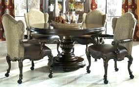 Dining Table And Chairs With Casters Game Kitchen Room