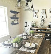 Wrought Iron Scale Farmhouse Table Galvanized Letters Industrial Light Fixtures Dining Room
