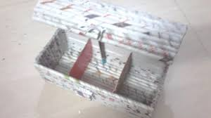 DIY How To Make Jewellery Box Using Newspaper Rolls