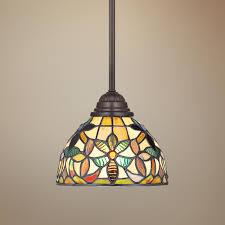Tiffany Style Lamps Canada by Quoizel Kami Tiffany Style Mini Pendant Light Style R9751