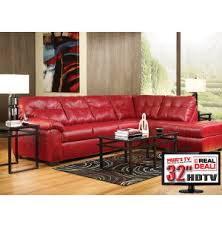 7pc living room package with tv leather furniture sets living