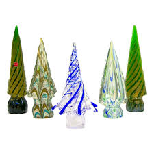 Vintage Italian Murano Glass Christmas Tree Sculptures By Formia Cosulich Interiors Antiques