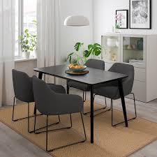lisabo tossberg tisch und 4 stühle metall grau schwarz 140x78 cm