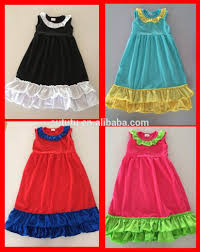 New Original Brand Beach Dress For Teen Girls 2014 Summer Child Clothing Simple Ruffle Layers