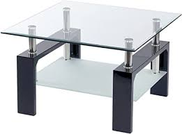 ts ideen design wohnzimmer glastisch glas beistell tisch edelstahl holz hochglanz schwarz 8 mm esg sicherheitsglas mit ablage