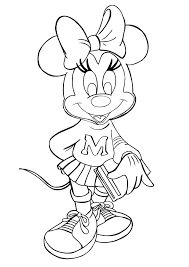 Fancy Free Minnie Mouse Coloring Pages 90 In Line Drawings With