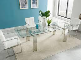 esstisch glas lubana ausziehbar metallic günstig kaufen