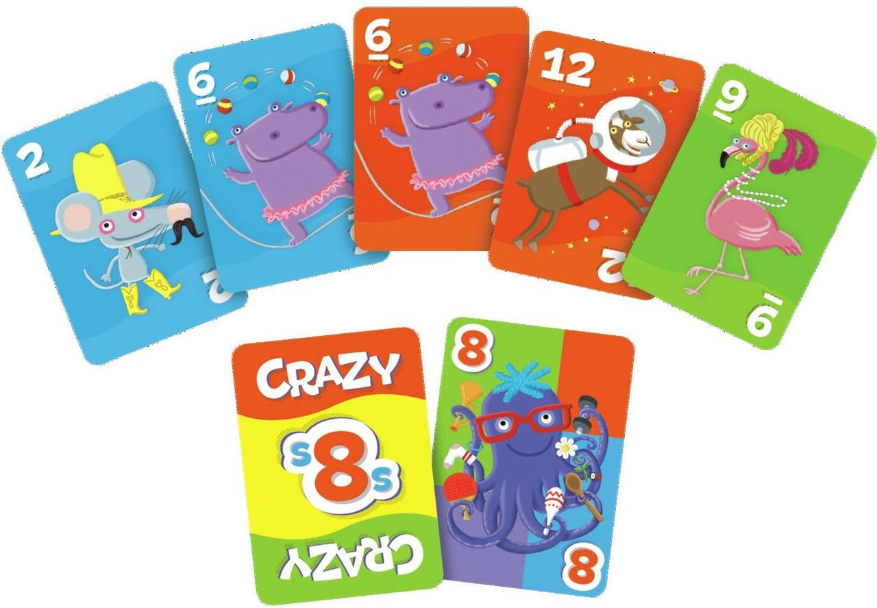 Go Kids Crazy 8s Card Game