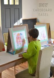 Art Easel Desk Kids Art by Diy Cardboard Easel Table Easel Diy Cardboard And Easy