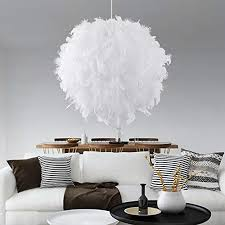 warmes licht warmlight 60cm oofay light white feather shade
