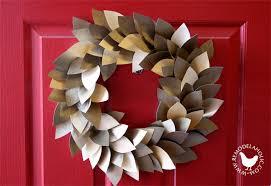 Paper Leaf Holiday Wreath