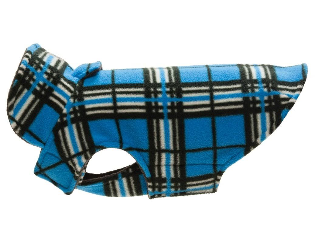 RC Pet Products 65618106-RC Whistler Winter Dog Coat Blue Tartan - Size 18