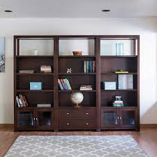 Pacifica 3 Piece 76 Bookcase Wall 2 Glass 1 Drawer