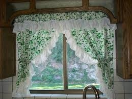 Kitchen Curtain Ideas Diy by Kitchen Adorable White Kitchen Curtain Ideas With Red Flower
