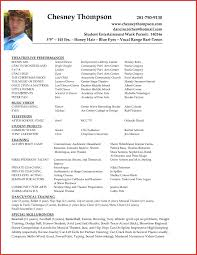 Examples Of Acting Resumes Simple Beginner Actor Resume Sample Example No Experience