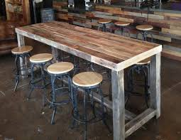 Reclaimed Wood Bar Restaurant Counter Community Rustic Custom Kitchen Coffee Cocktail Conference Office Meeting Table Tables