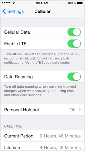 Check the cellular data usage on your iPhone and iPad