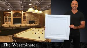 Ceilume Coffered Ceiling Tiles by Westminster Ceiling Tiles Youtube