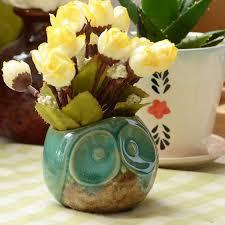 2018 Home Decoration Ceramic Owl Flower Pot Owl Candle Holders