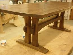 of late woodworking mission trestle dining table plans pdf free