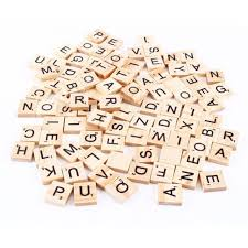 100 pcs set sale wooden alphabet numbers scrabble tiles black