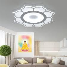 Modern Simple Square Acrylic LED Ceiling Light Living Room Bedroom Home LampFull White Light