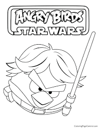 Luke Skywalker Coloring Pages To Print Angry Birds Star Wars Page Lego Printable Full Size