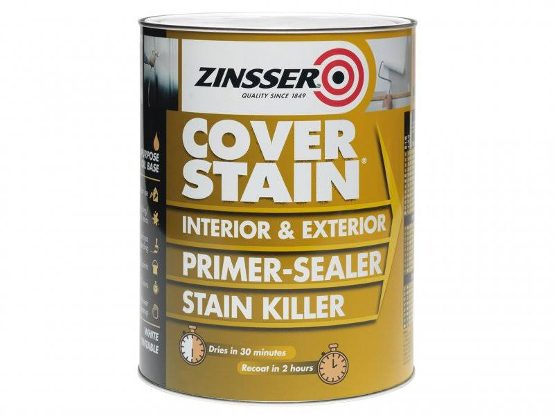 Zinsser Primer-Sealer Stain Killer - Interior & Exterior, White, 2.5L