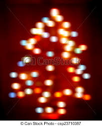 Defocused Christmas Tree Lights In Blur Motion