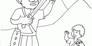 Veggie Tales David And Goliath Coloring Page