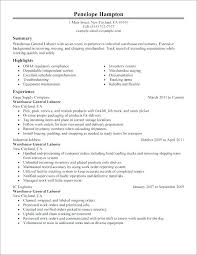 Sample Resume For Construction Laborer General Worker Job Description In Sampl