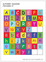 Alphabet Squares Full Color