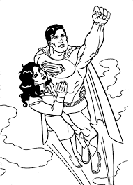 Download Coloring Pages Superman