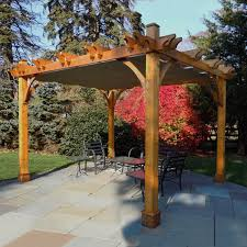 Lowes Canada Outdoor Christmas Decorations by Outdoor Living Today Bz1012wrc 10 Ft X 12 Ft Cedar Breeze Pergola