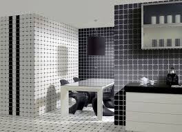 Black And White Tiles For Dining Room Kitchen